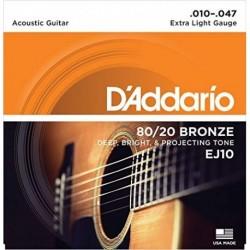 D'Addario EJ10 80/20 Bronze Round Wound