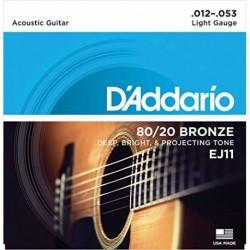 D'Addario EJ11 80/20 Bronze Round Wound