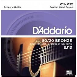 D'Addario EJ13 80/20 Bronze Round Wound