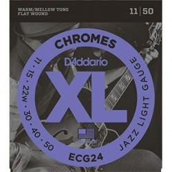 D'Addario ECG24 XL Chromes® Flat Wound
