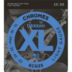 D'Addario ECG25 XL Chromes® Flat Wound