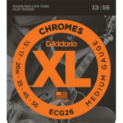 D'Addario ECG26 XL Chromes® Flat Wound