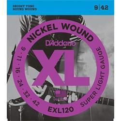 D'Addario EXL120 Nickel Round Wound