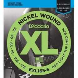D'Addario EXL165-6 Nickel Round Wound