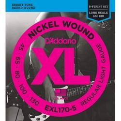 D'Addario EXL170-5 Nickel Round Wound