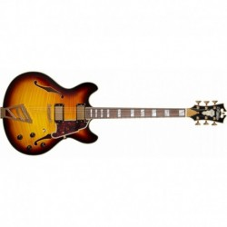 D'Angelico EXCEL DC VINTAGE SUNBURST with Stairstep tailpiece